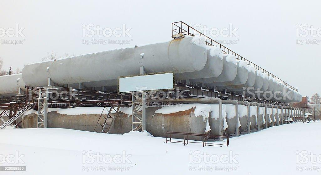 Pressure vessels stock photo