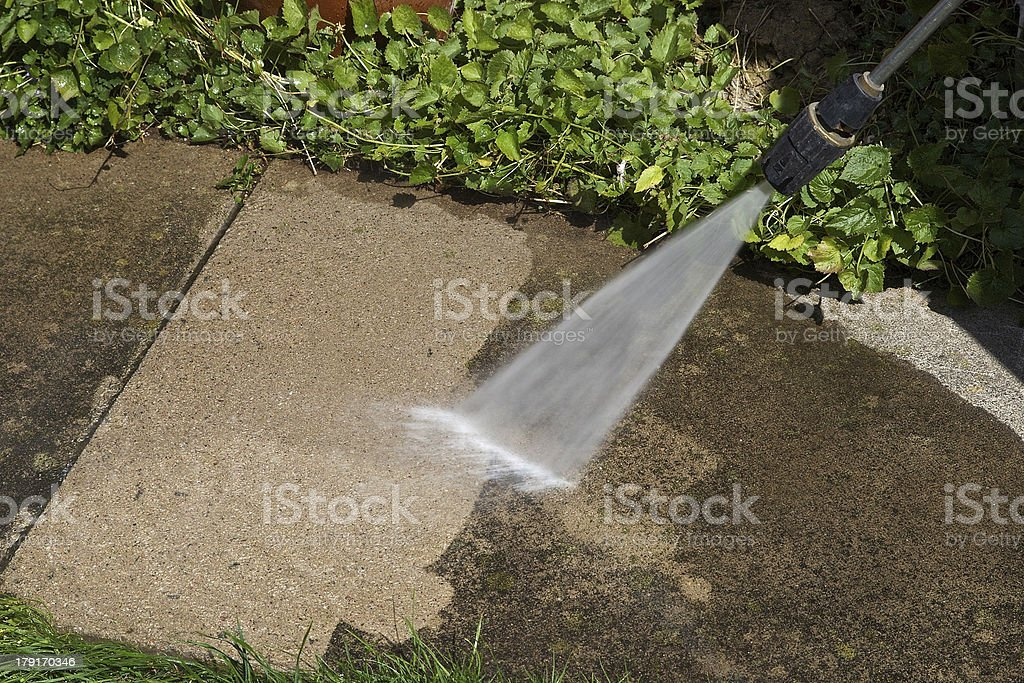 Pressure Washer Cleaning royalty-free stock photo