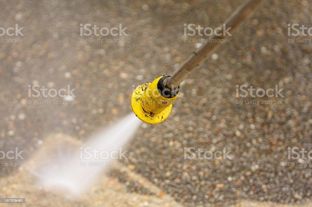 pressure washing concrete royalty-free stock photo