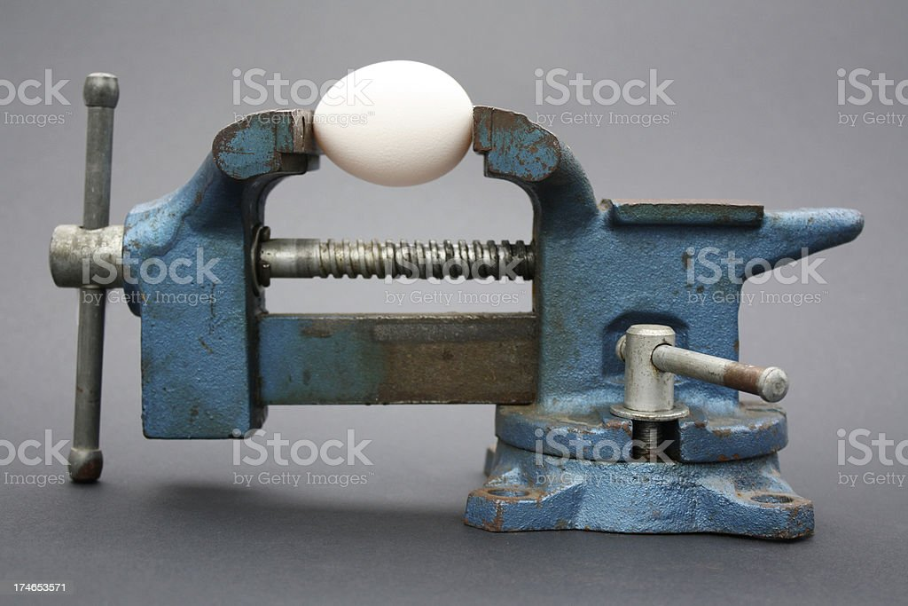 Pressured Egg stock photo