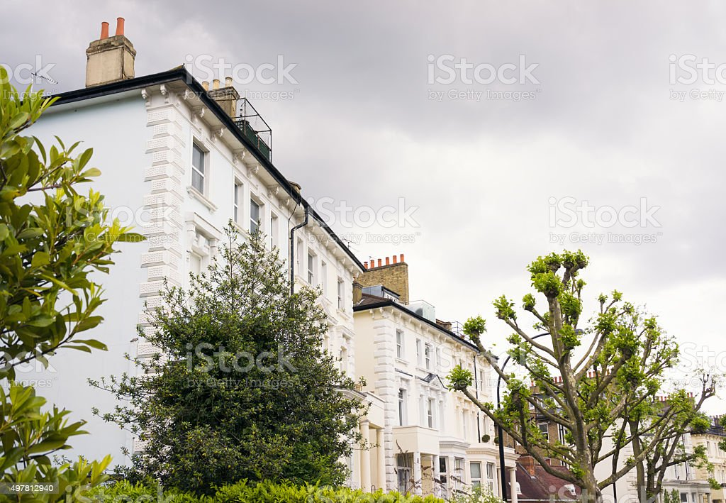 Prestige London Properties in the Belsize Park area of Hampstead stock photo