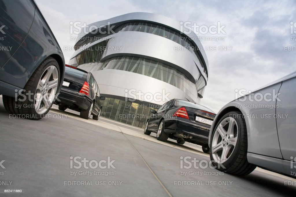 Prestigious automobiles stock photo