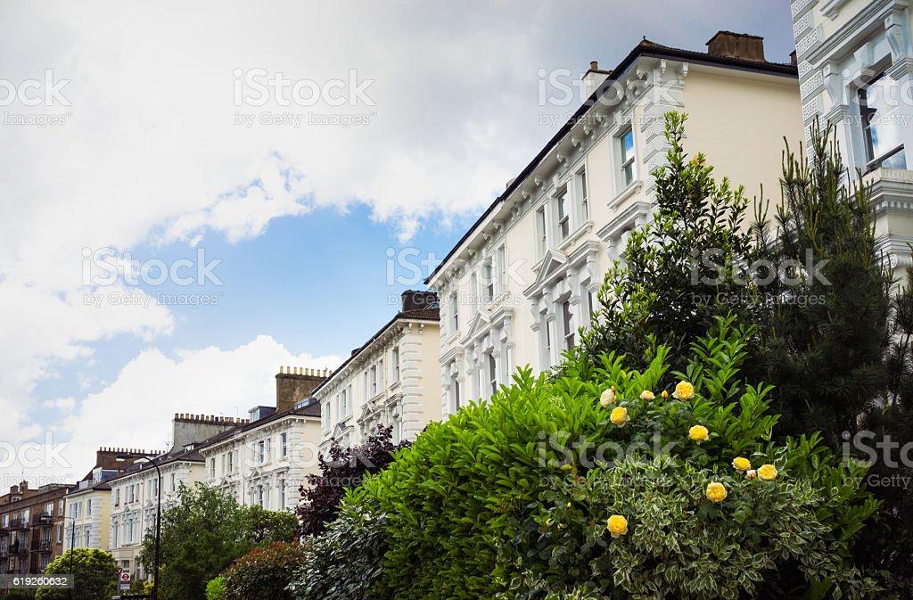 Prestigious properties in Belsize Park, London stock photo
