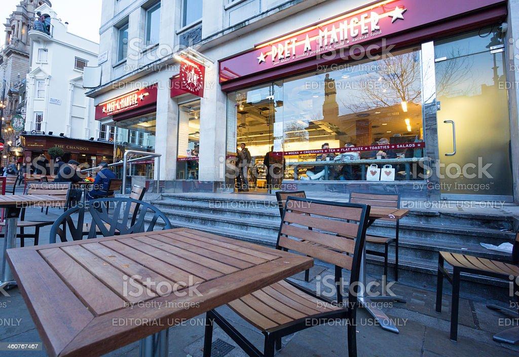 Pret A Manger in Trafalgar Square, London royalty-free stock photo