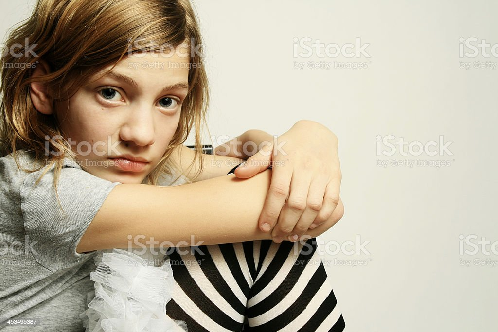 pre-teen attitude royalty-free stock photo