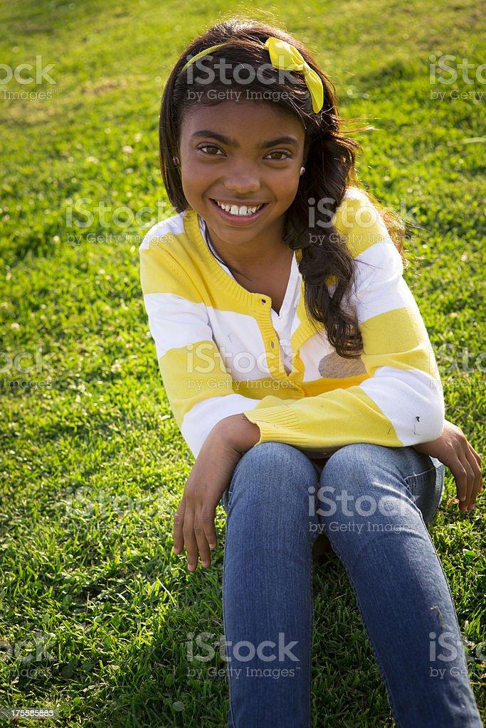Preteen ethnic girl royalty-free stock photo