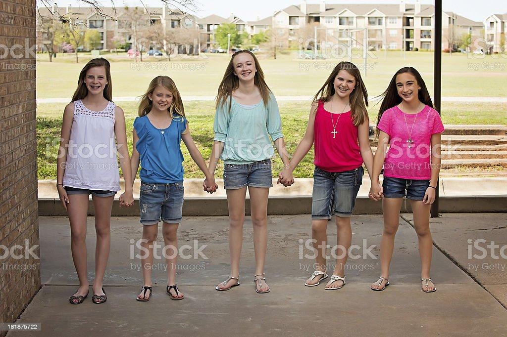 Pre-teen girls royalty-free stock photo