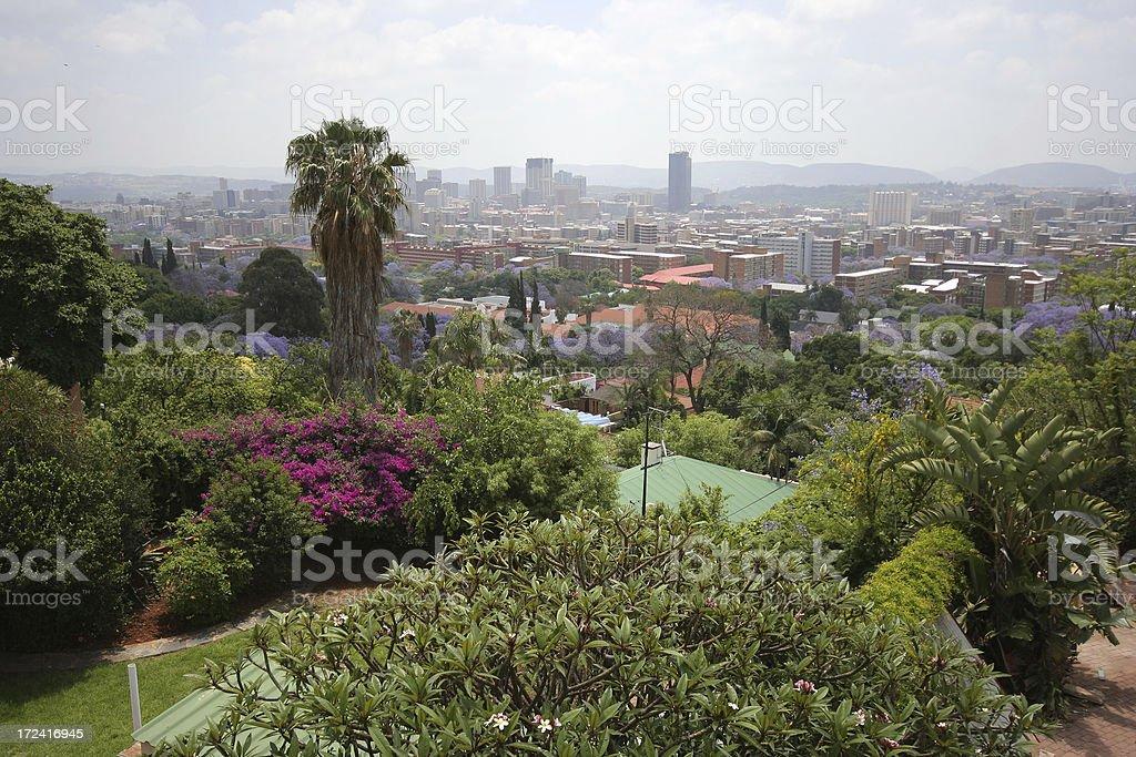 Pretoria city facing north stock photo