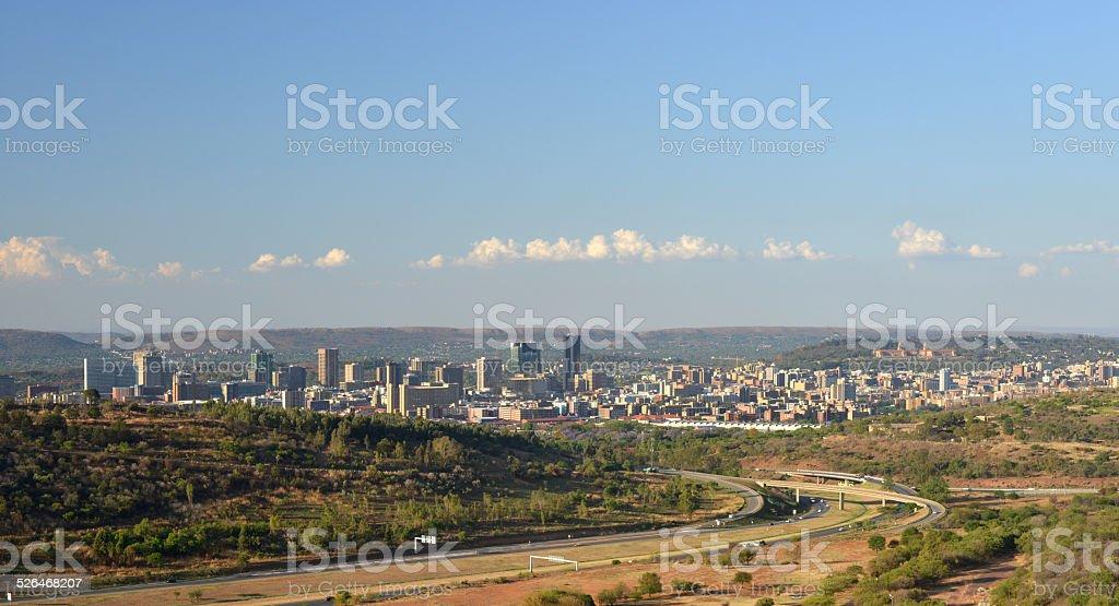 Pretoria city skyline, Republic of South Africa. stock photo