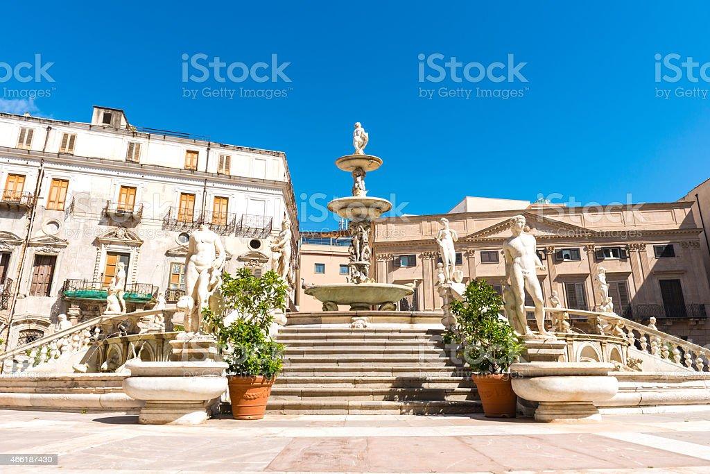 Piazza Pretoria stock photo