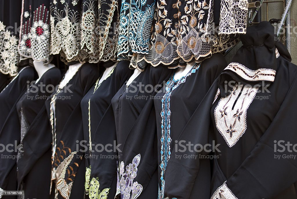 Pretty Abayas for sale stock photo
