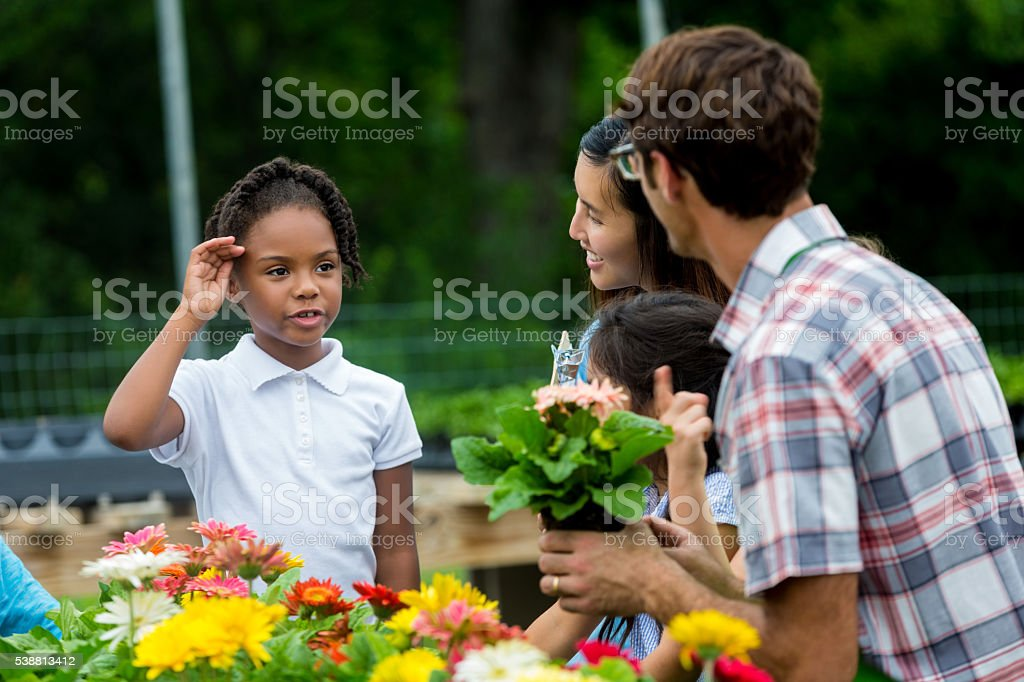 Pretty African American Girl on field trip stock photo