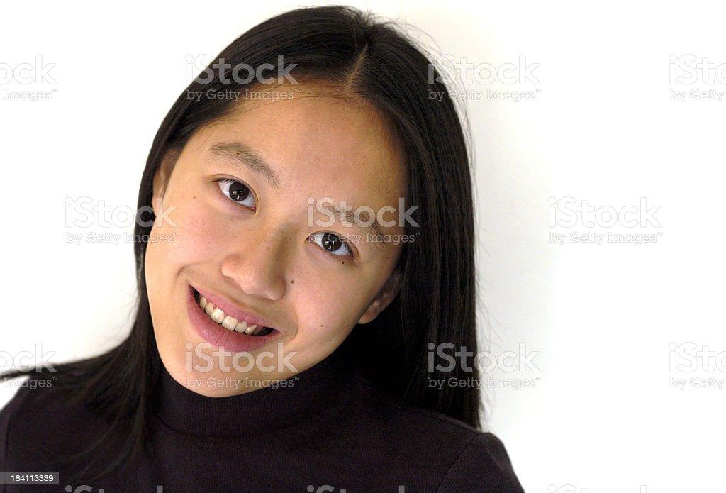 pretty Asian teen royalty-free stock photo
