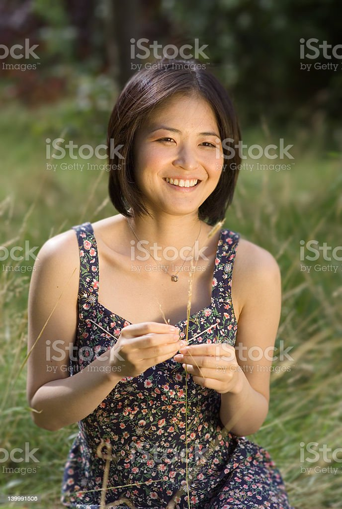 pretty asian woman laughing royalty-free stock photo