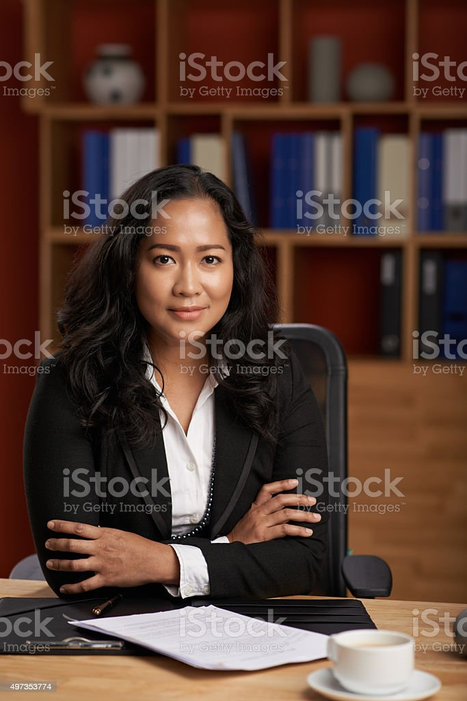 Pretty attorney stock photo
