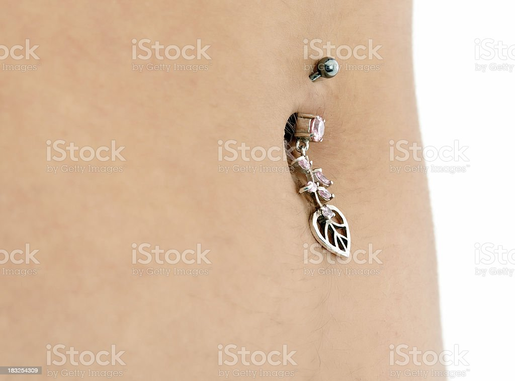 pretty belly and piercing royalty-free stock photo