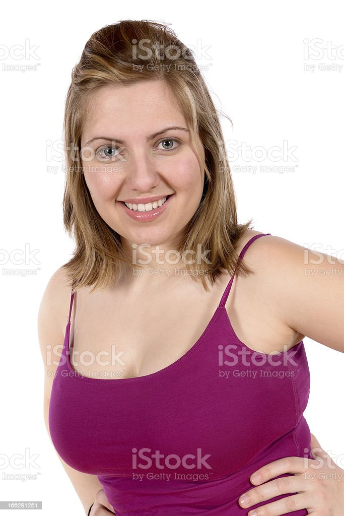 Pretty blond woman portrait expressions royalty-free stock photo