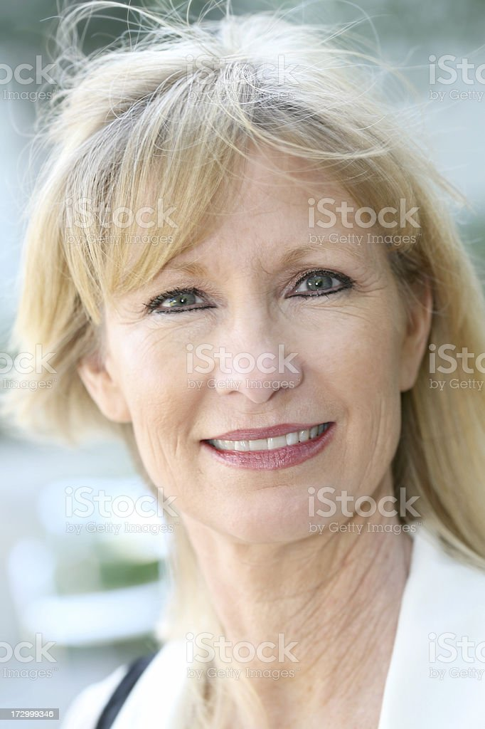Pretty Blonde Adult Woman Portrait royalty-free stock photo
