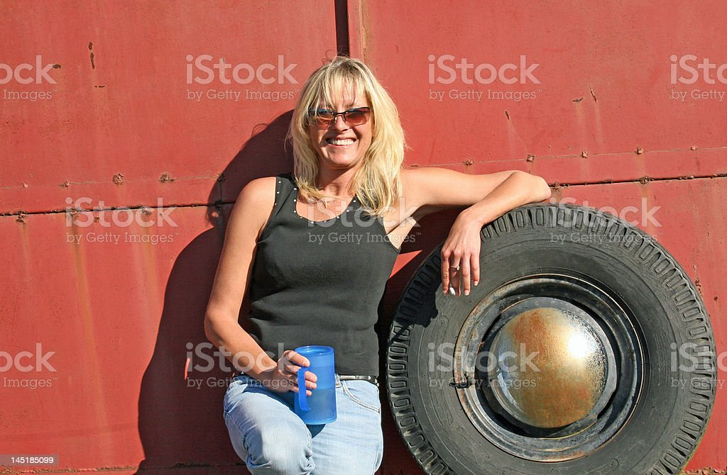 Pretty Blonde Country Girl royalty-free stock photo