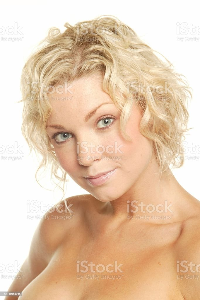 Pretty blonde headshot royalty-free stock photo