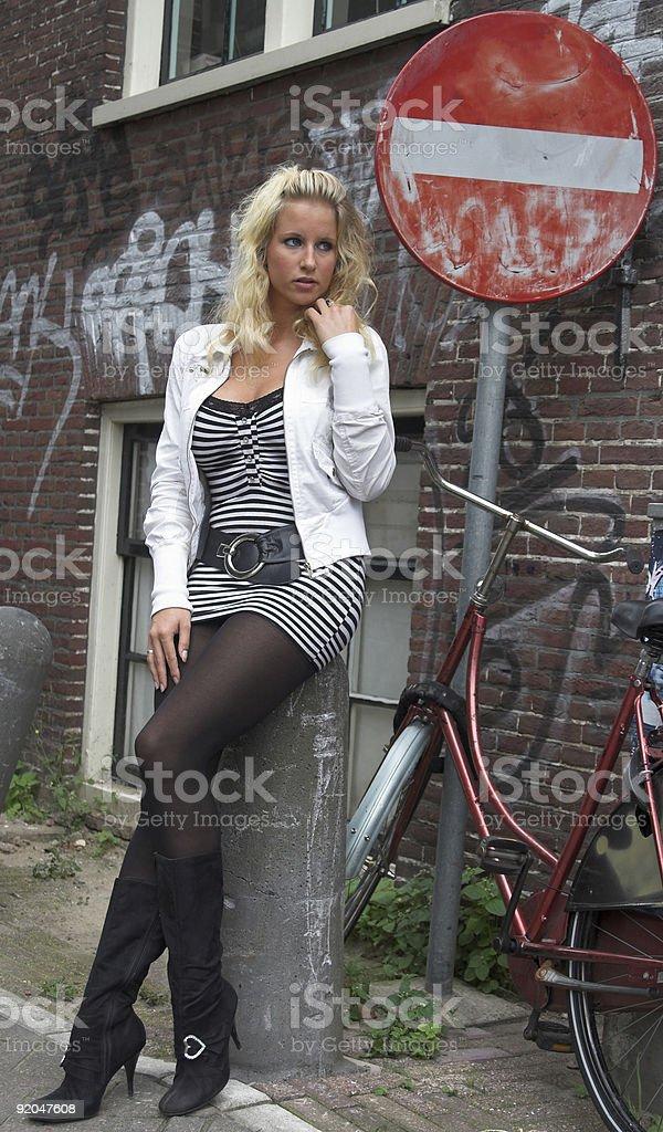 pretty blonde royalty-free stock photo