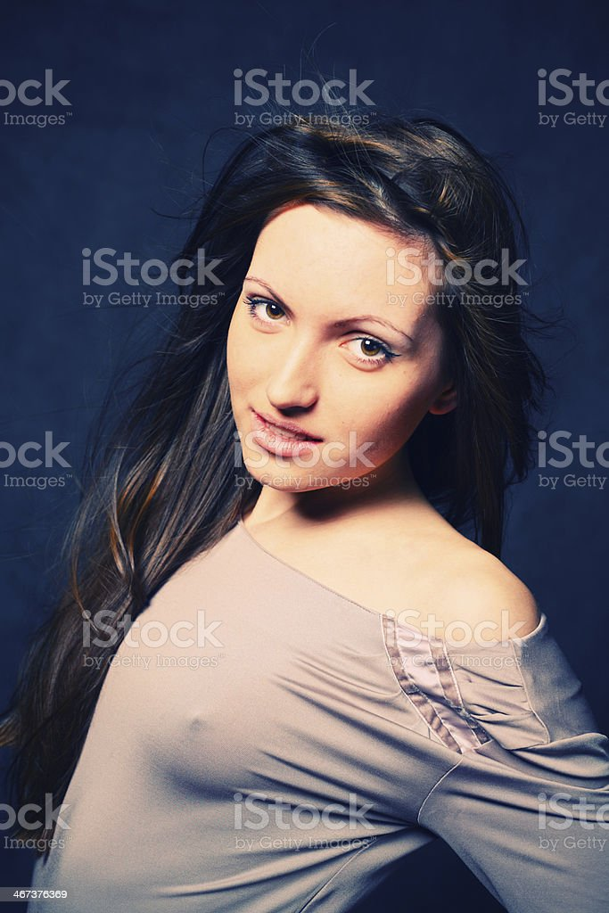 pretty brunette royalty-free stock photo