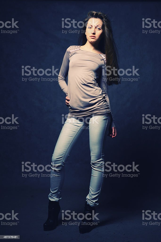 pretty brunette royalty-free stock photo