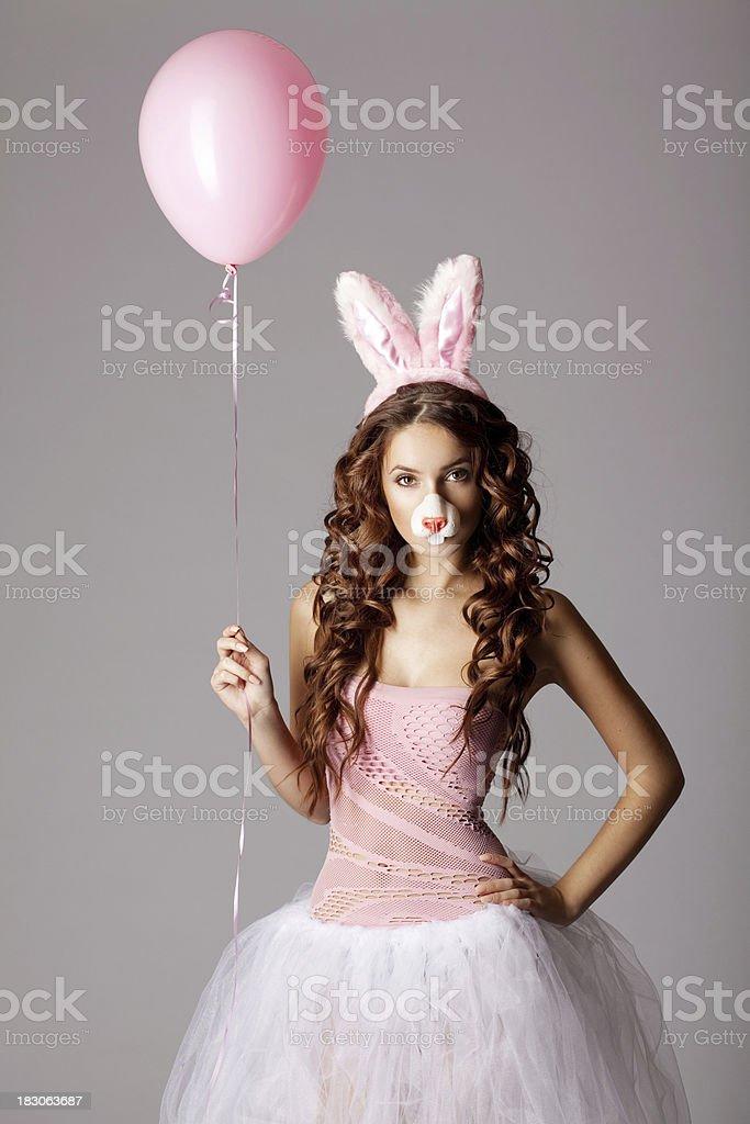 Pretty bunny royalty-free stock photo