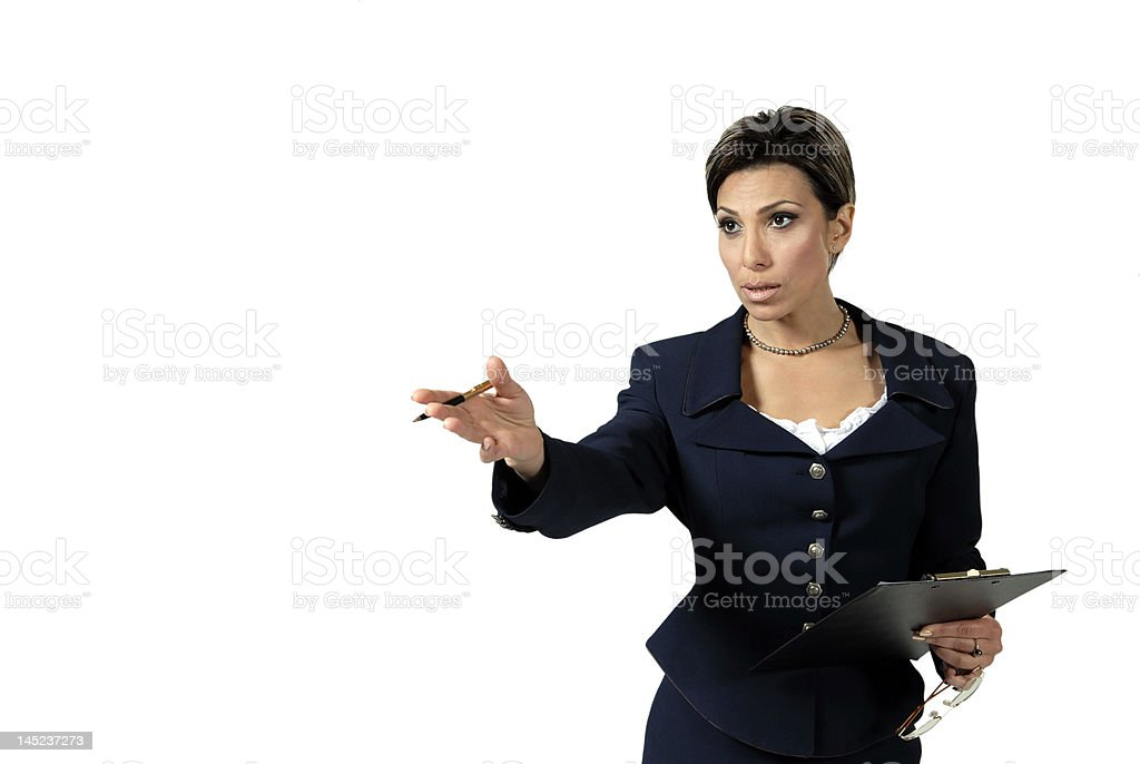 pretty business lady royalty-free stock photo