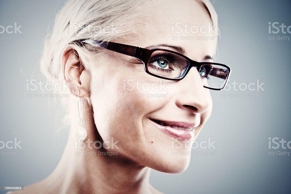 Pretty business woman royalty-free stock photo