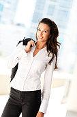 Pretty Businesswoman Outdoors