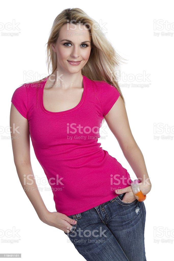 Pretty Casual Woman stock photo