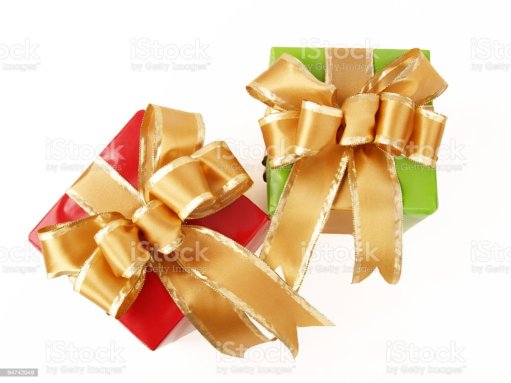 Pretty Christmas Gifts royalty-free stock photo