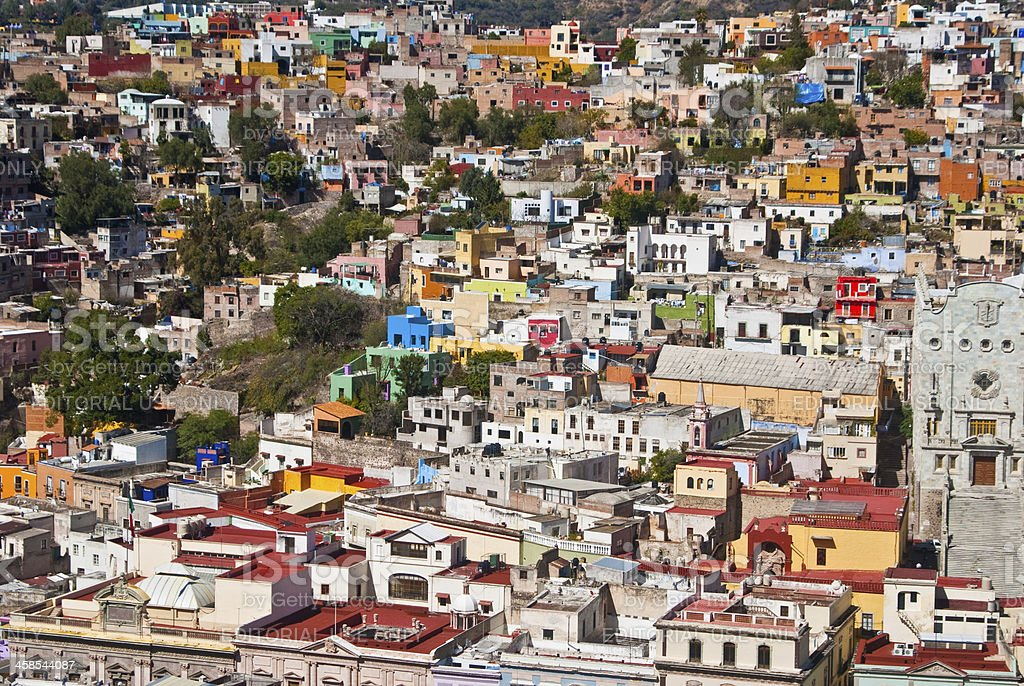 Pretty colorful buildings in Guanajuato Mexico royalty-free stock photo