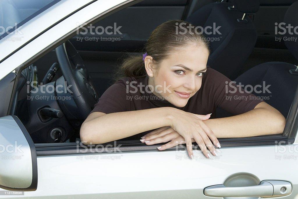 Pretty driver girl royalty-free stock photo