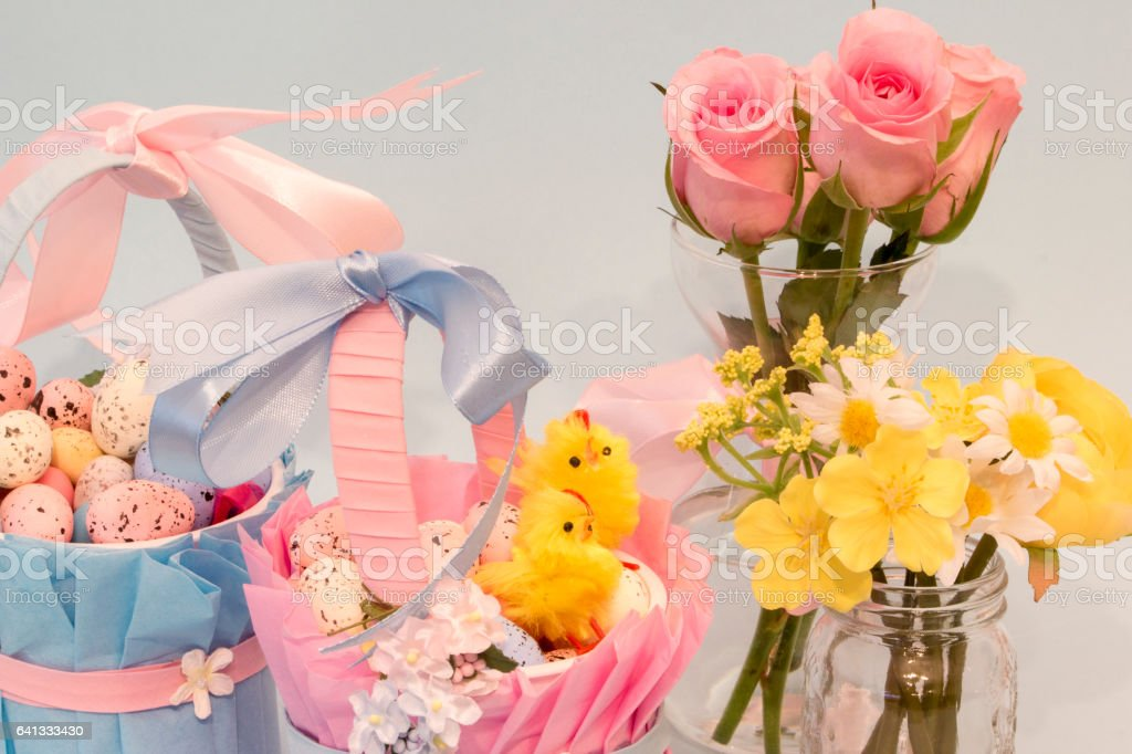 Pretty Easter Baskets stock photo
