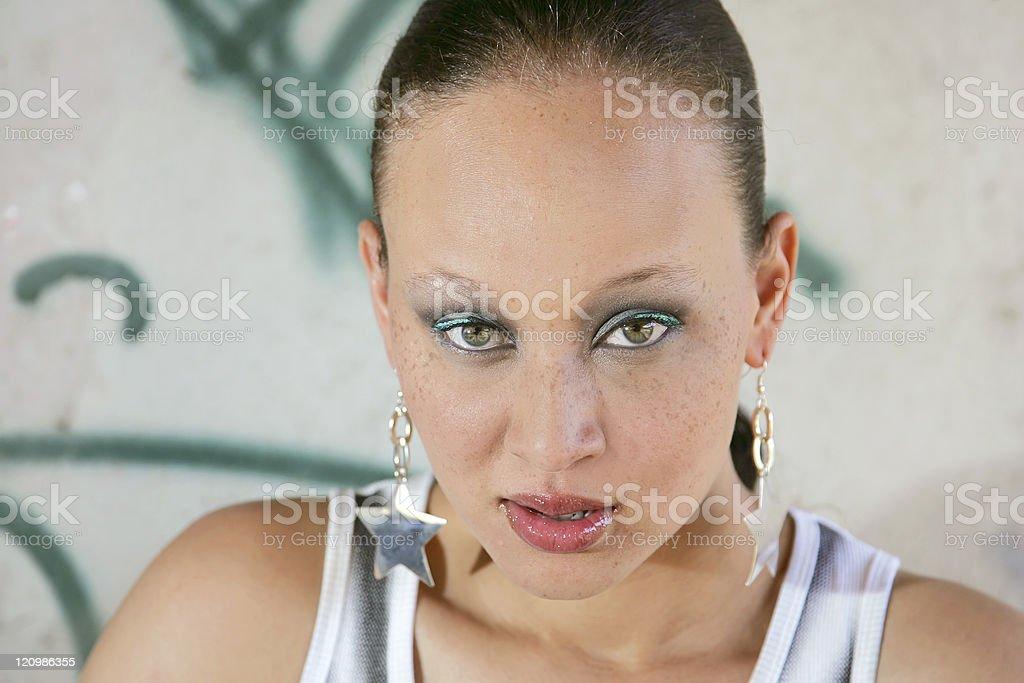 pretty ethnic woman stock photo