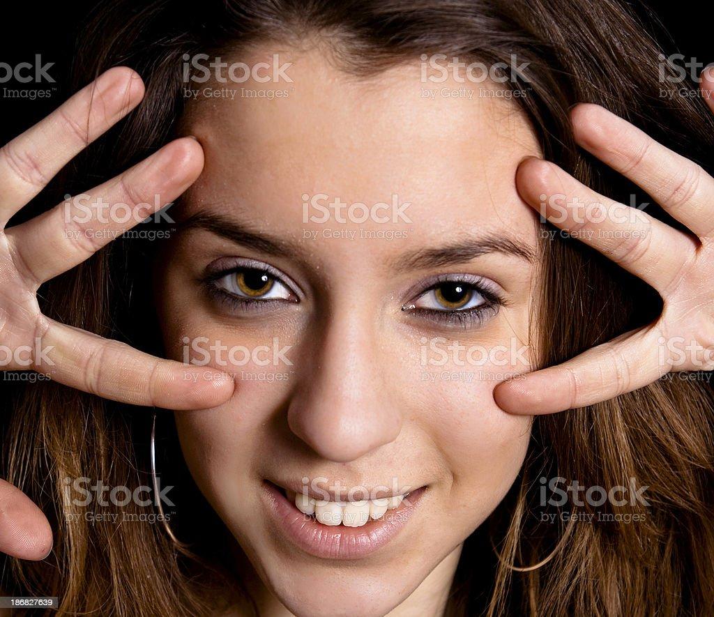 Pretty face stock photo