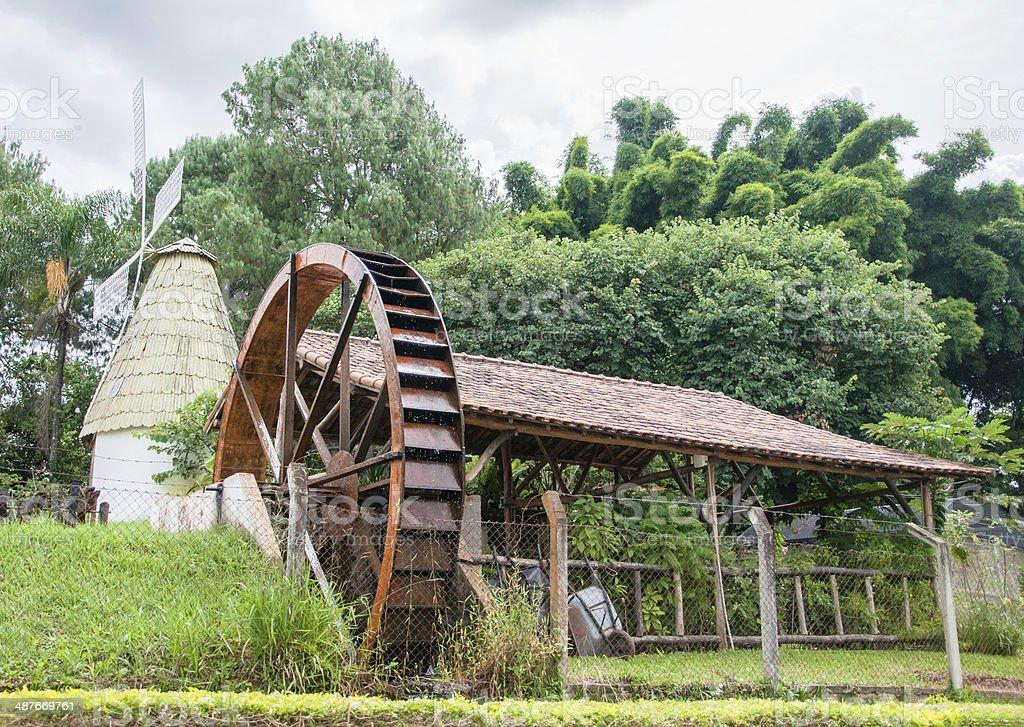 Pretty Farm and Watermill stock photo