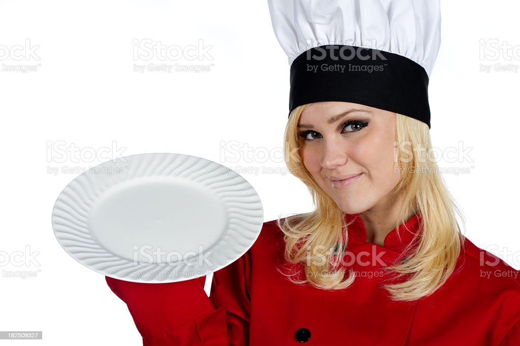 Pretty Female Chef royalty-free stock photo