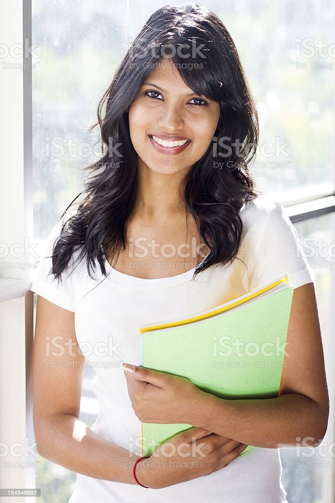 pretty female college student royalty-free stock photo