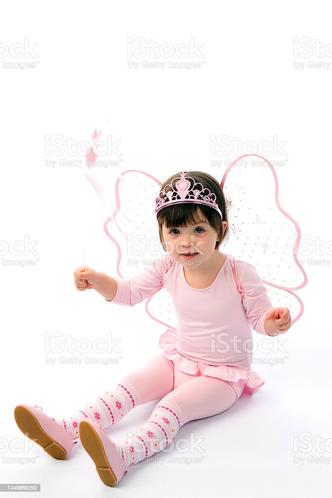 Pretty girl  in a suit of the fairy. royalty-free stock photo