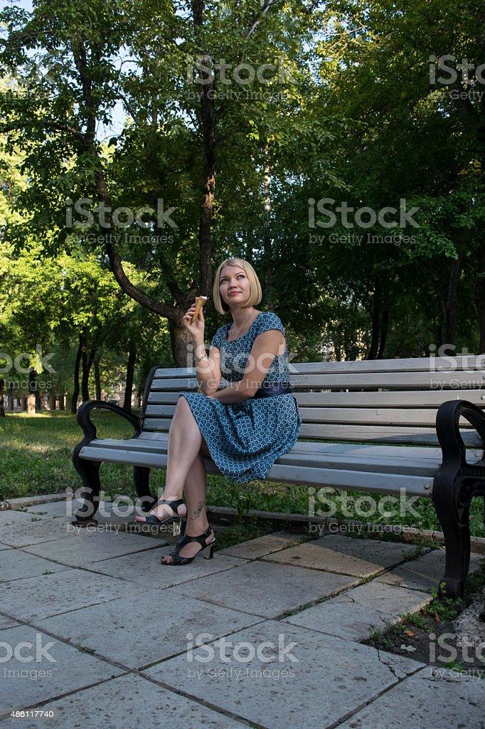 Pretty girl in the Park stock photo