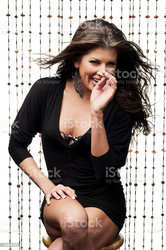 Pretty Girl Laughing stock photo