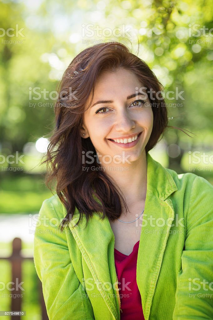 Pretty girl portrait stock photo