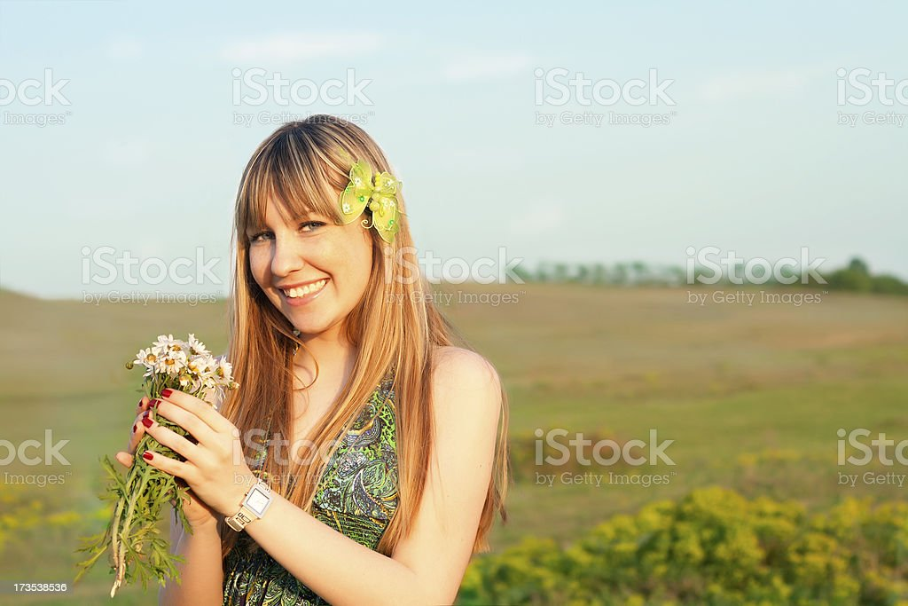 pretty girl posing outdoor royalty-free stock photo