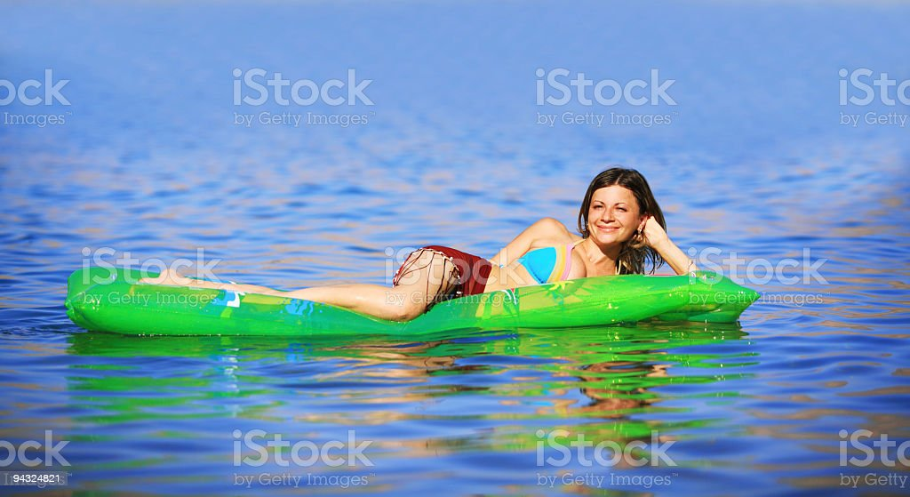 pretty girl relaxing royalty-free stock photo