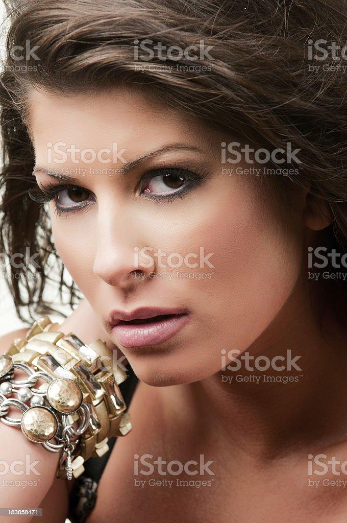 Pretty Girl Up Close stock photo