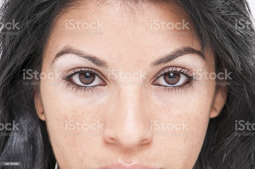 pretty girl with beautiful eyes close up royalty-free stock photo