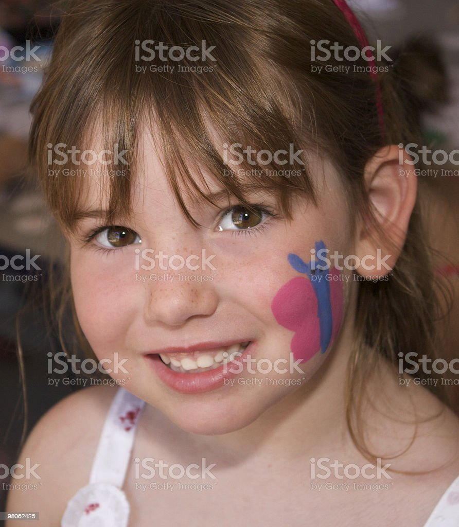 Pretty Girl with Face Paint royalty-free stock photo